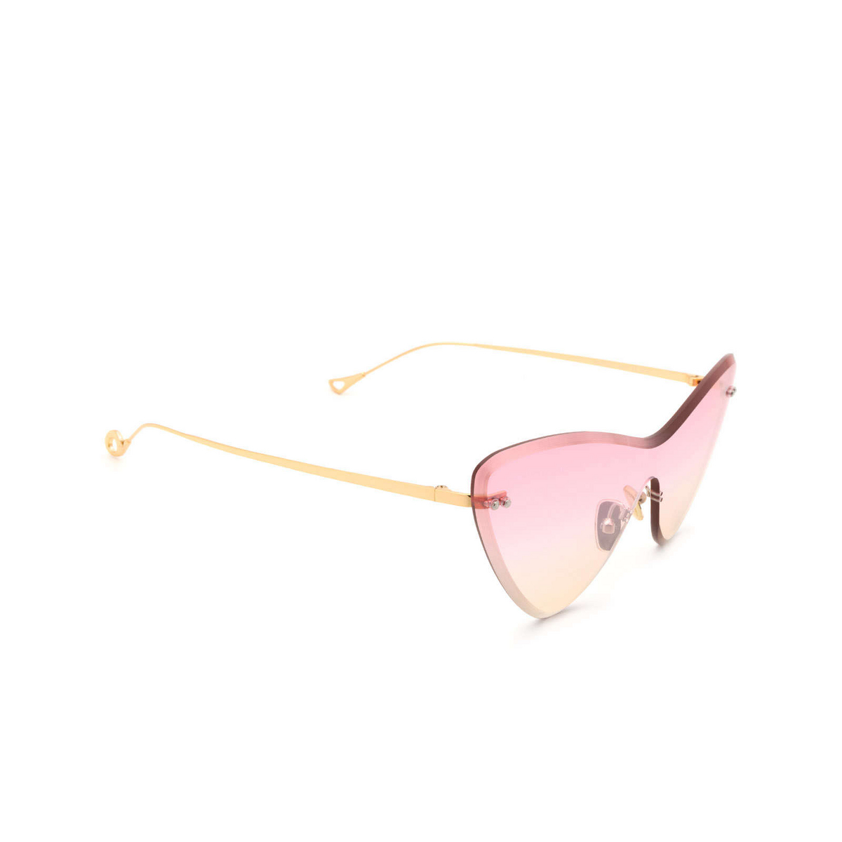 Eyepetizer® Mask Sunglasses: Ocean color Gold C.4-22F - three-quarters view.