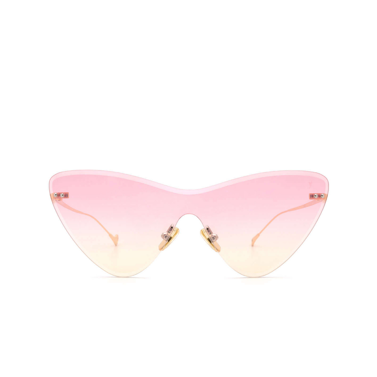 Eyepetizer® Mask Sunglasses: Ocean color Gold C.4-22F - front view.