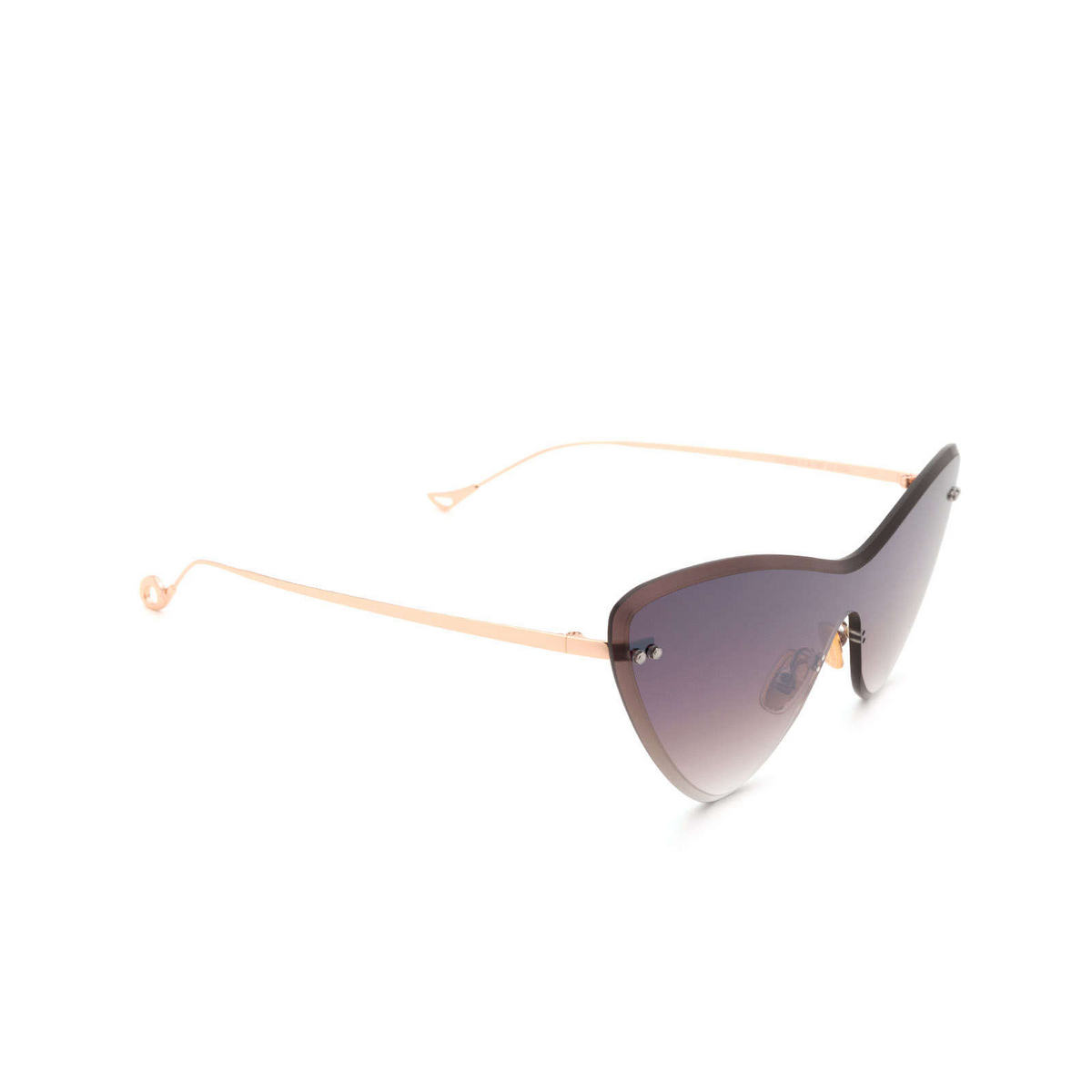 Eyepetizer® Mask Sunglasses: Ocean color Gold C.9-18F - three-quarters view.