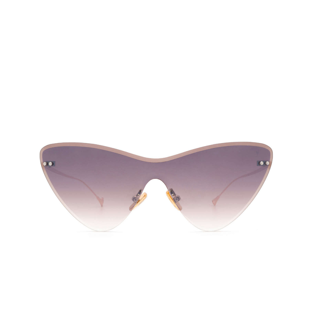 Eyepetizer® Mask Sunglasses: Ocean color Gold C.9-18F - front view.