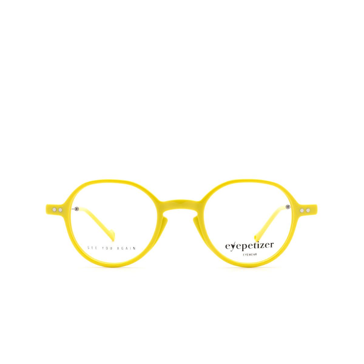 Eyepetizer® Round Eyeglasses: Onze color Yellow C.3-U.