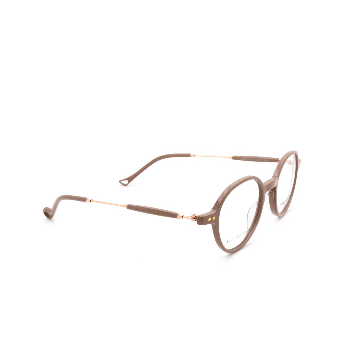 Eyepetizer® Round Eyeglasses: Onze color Beige C.9-E.