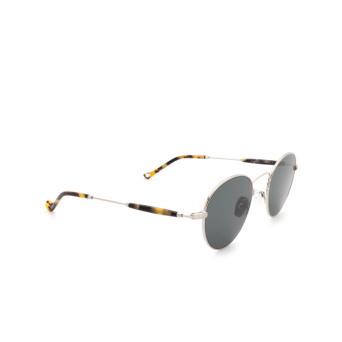 Eyepetizer® Round Sunglasses: Orangerie color Silver C.1-F-40.