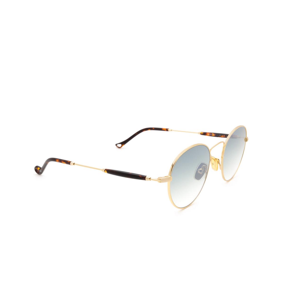Eyepetizer® Round Sunglasses: Orangerie color Gold C.4-I-25F - three-quarters view.