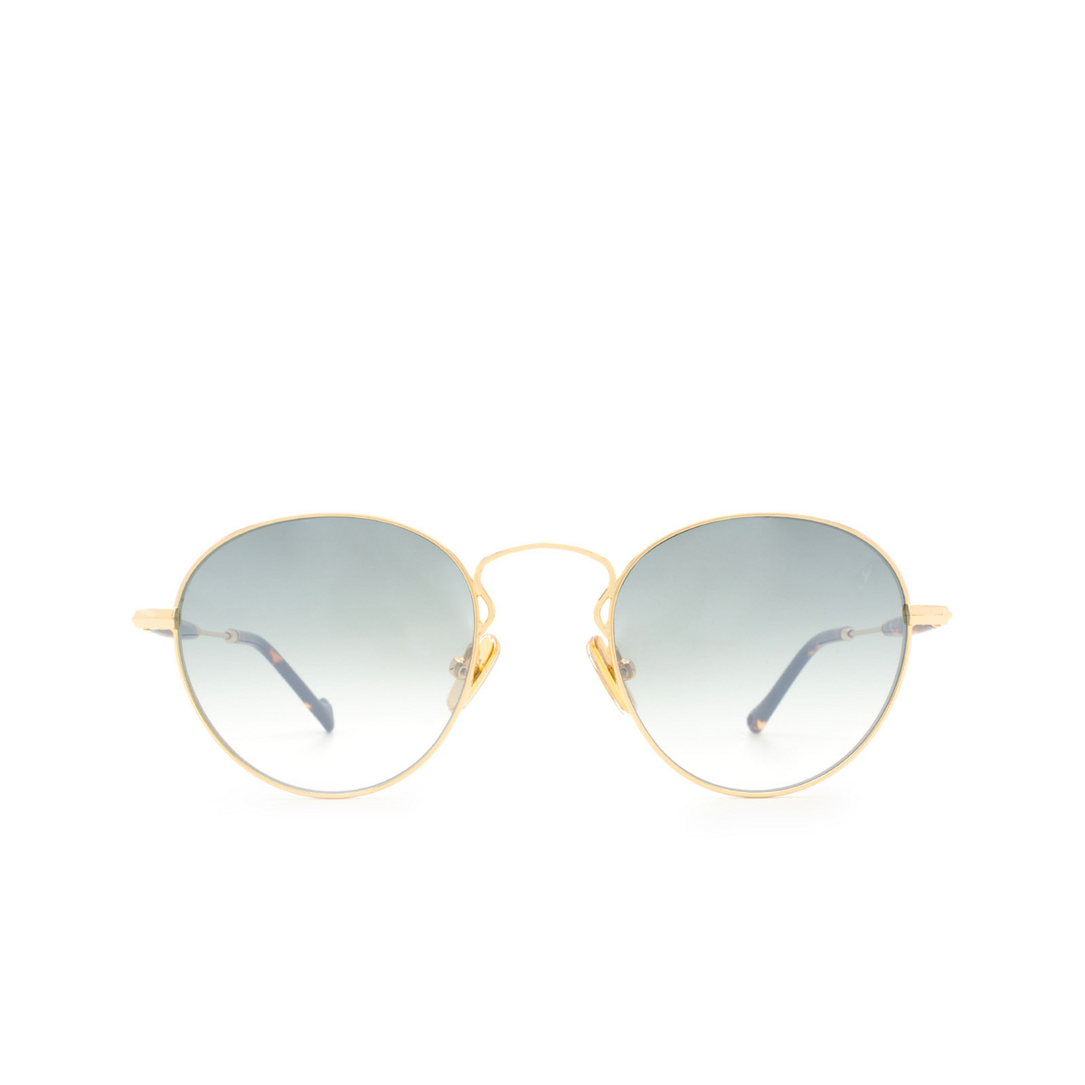 Eyepetizer® Round Sunglasses: Orangerie color Gold C.4-I-25F - front view.