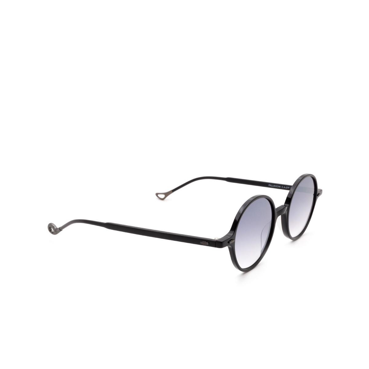 Eyepetizer® Round Sunglasses: Pallavicini color Black C.A-27F.