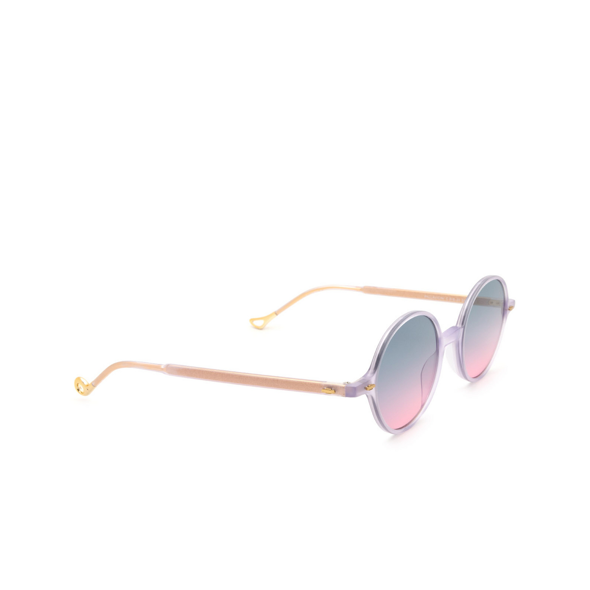 Eyepetizer® Round Sunglasses: Pallavicini color Lilac C.B/B-20 - three-quarters view.