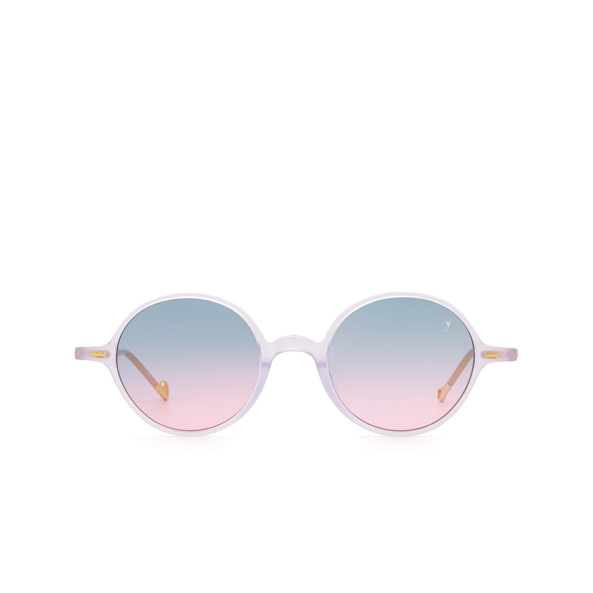 Eyepetizer® Round Sunglasses: Pallavicini color Lilac C.B/B-20 - front view.