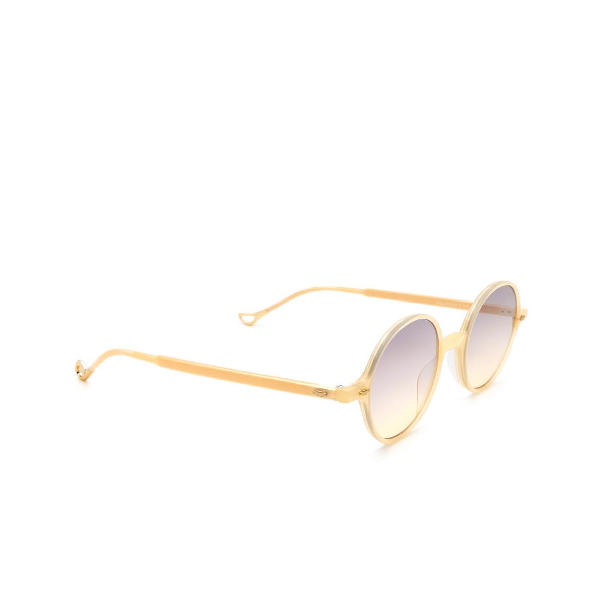 Eyepetizer® Round Sunglasses: Pallavicini color Honey C.C/C-19 - three-quarters view.