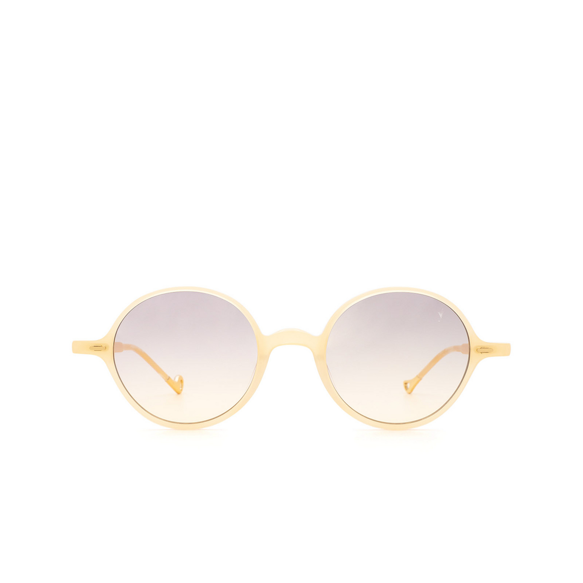 Eyepetizer® Round Sunglasses: Pallavicini color Honey C.C/C-19 - front view.