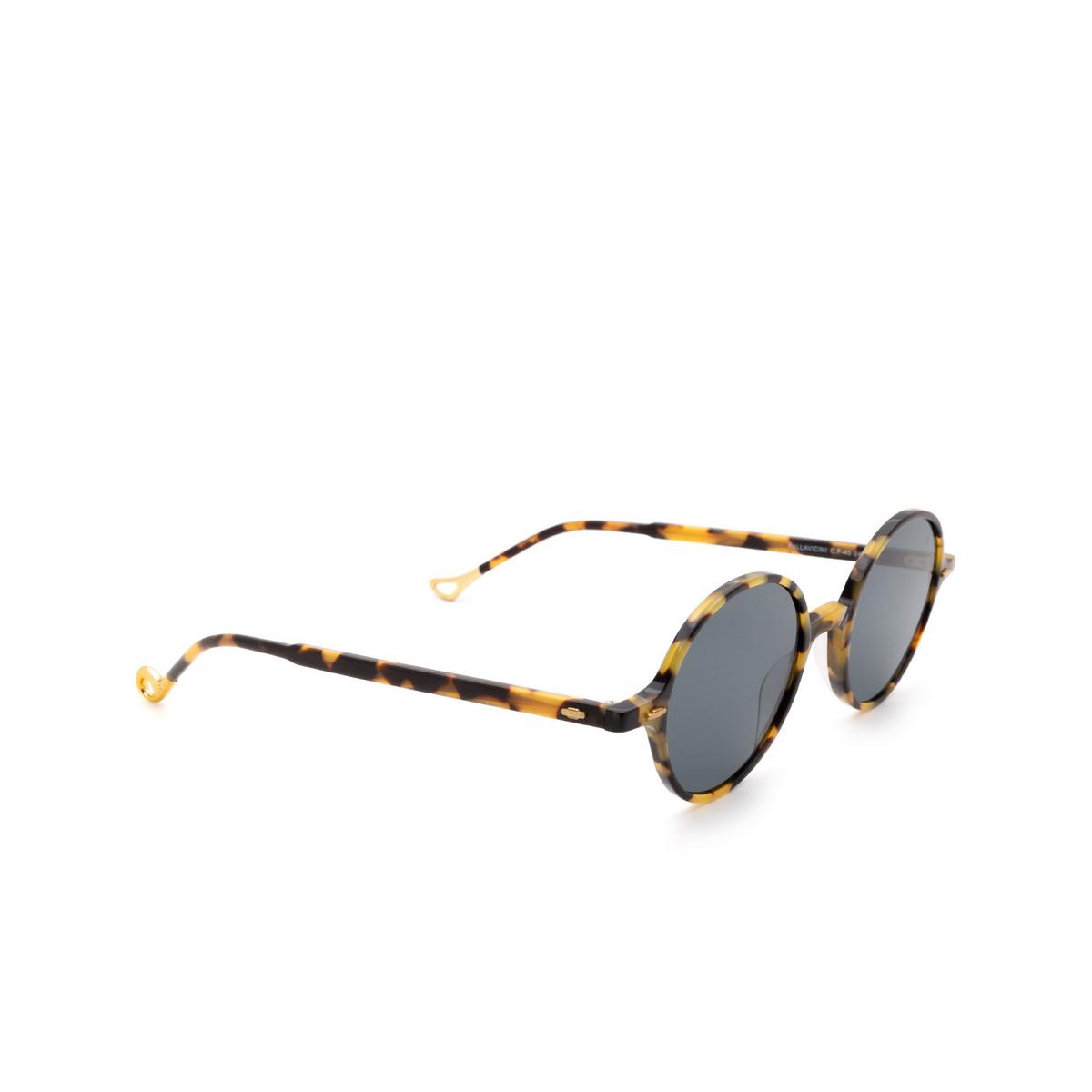 Eyepetizer® Round Sunglasses: Pallavicini color Havana C.F-40.