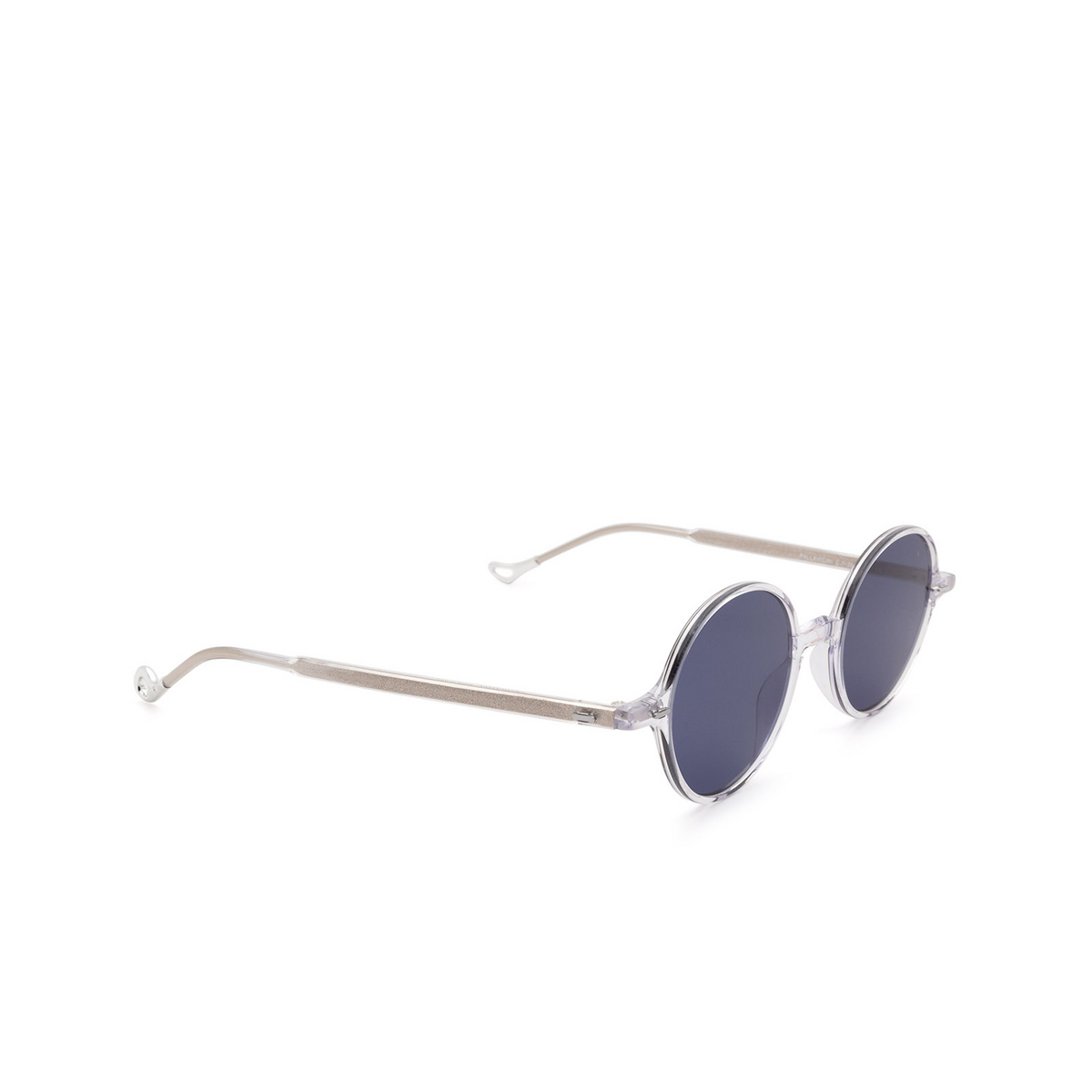 Eyepetizer® Round Sunglasses: Pallavicini color Crystal C.Y-39 - three-quarters view.