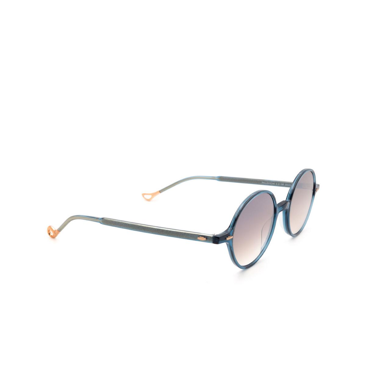 Eyepetizer® Round Sunglasses: Pallavicini color Blue C.Z-18F - three-quarters view.