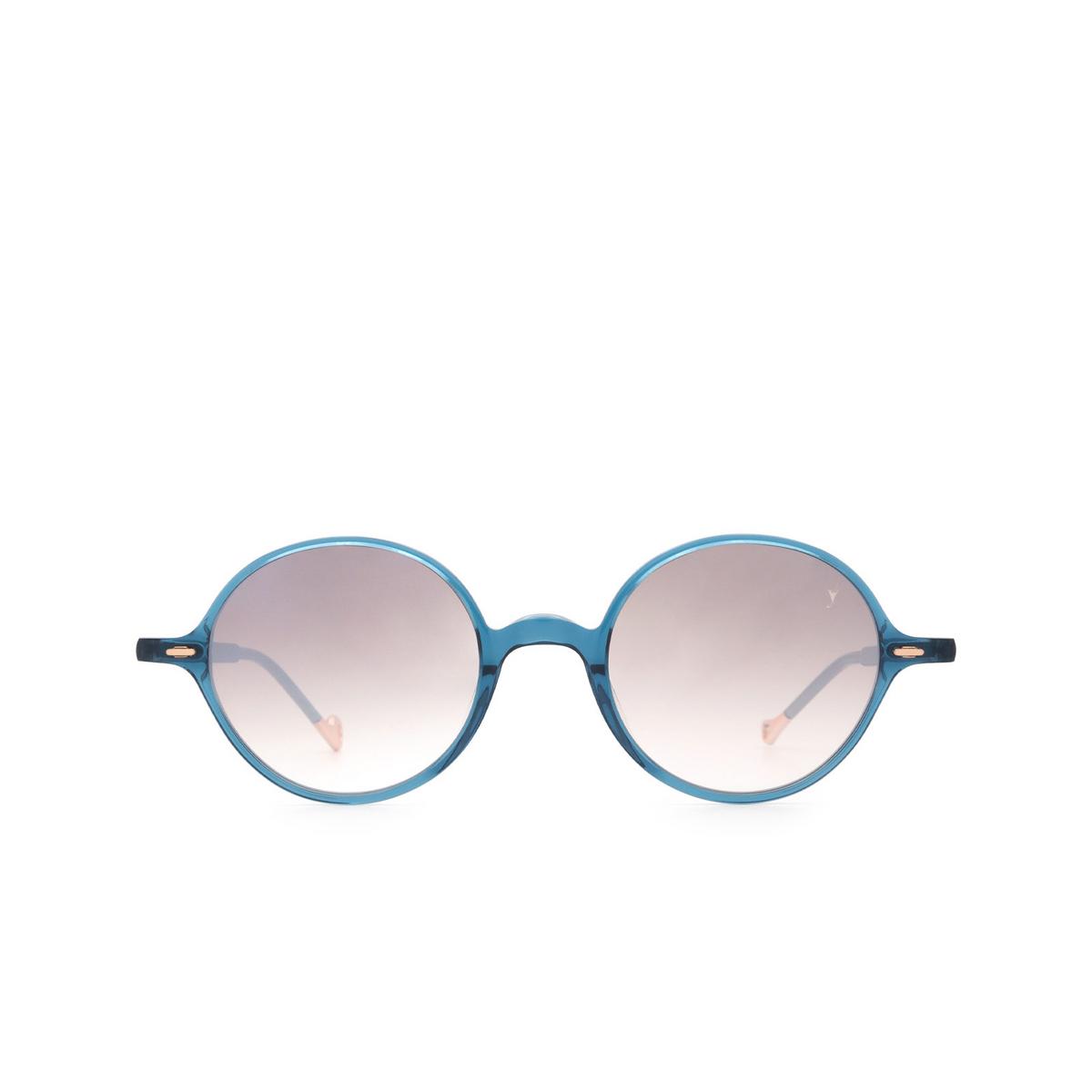 Eyepetizer® Round Sunglasses: Pallavicini color Blue C.Z-18F - front view.