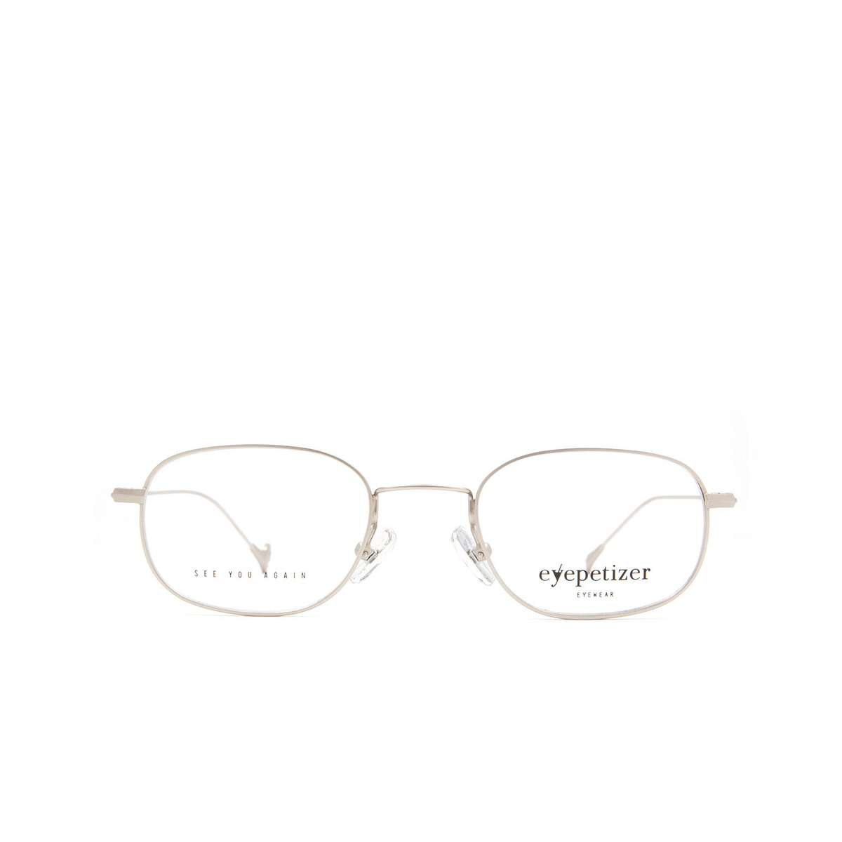 Eyepetizer® Oval Eyeglasses: Philippe color Matte Silver C 1-OP.