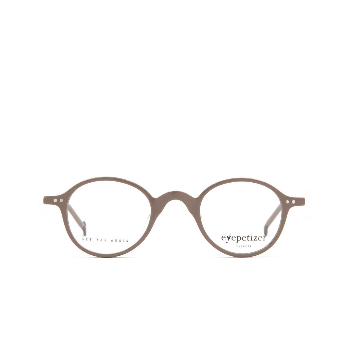 Eyepetizer® Round Eyeglasses: Plaza color Grey C N-3.