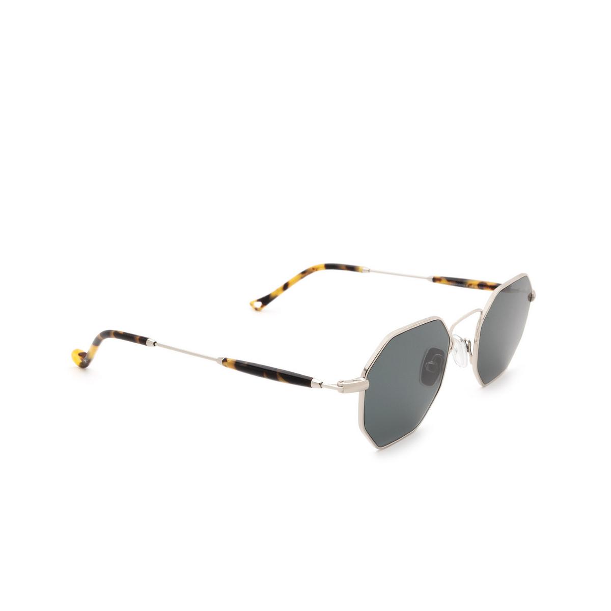 Eyepetizer® Irregular Sunglasses: Pompidou color Silver C.1-F-40 - three-quarters view.