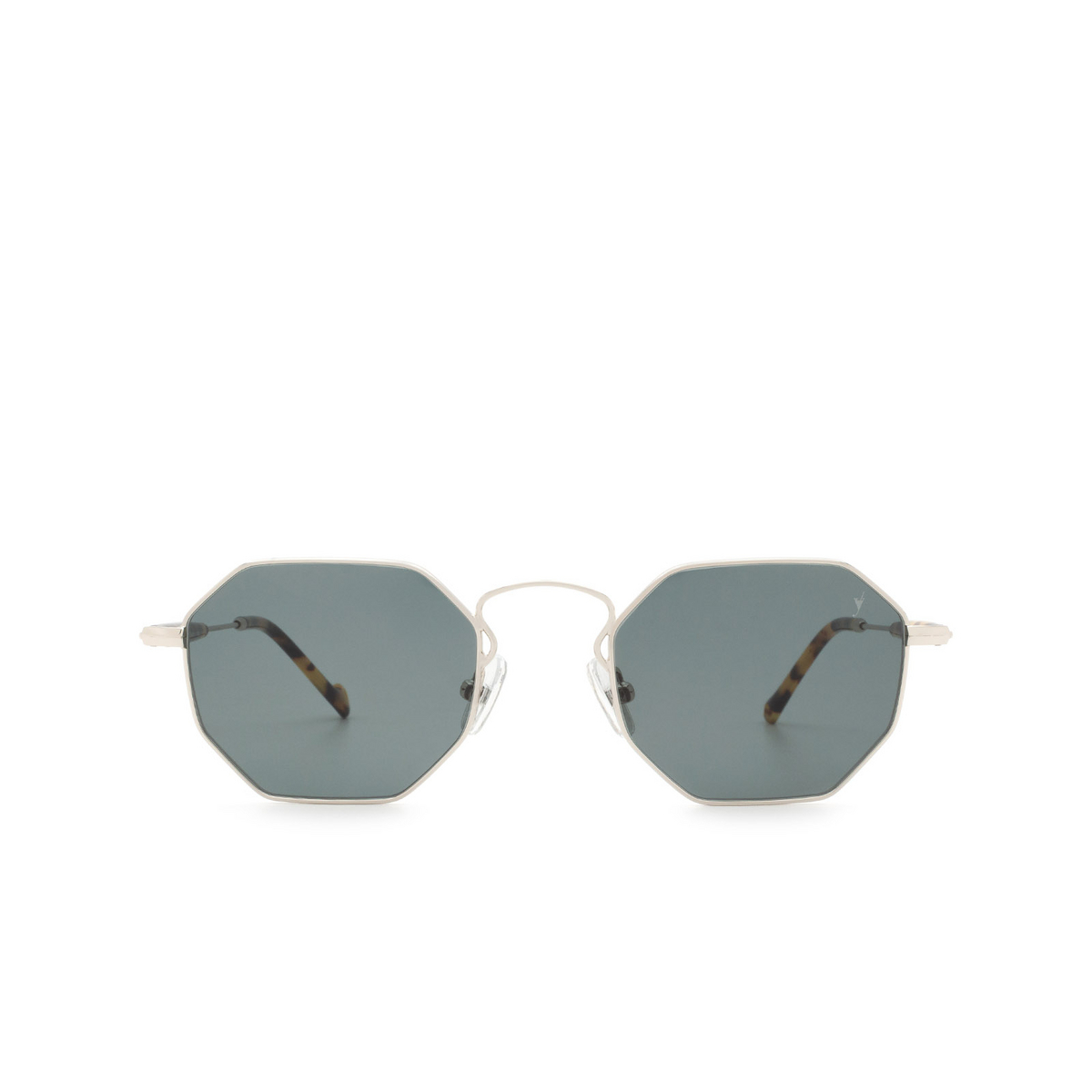 Eyepetizer® Irregular Sunglasses: Pompidou color Silver C.1-F-40 - front view.