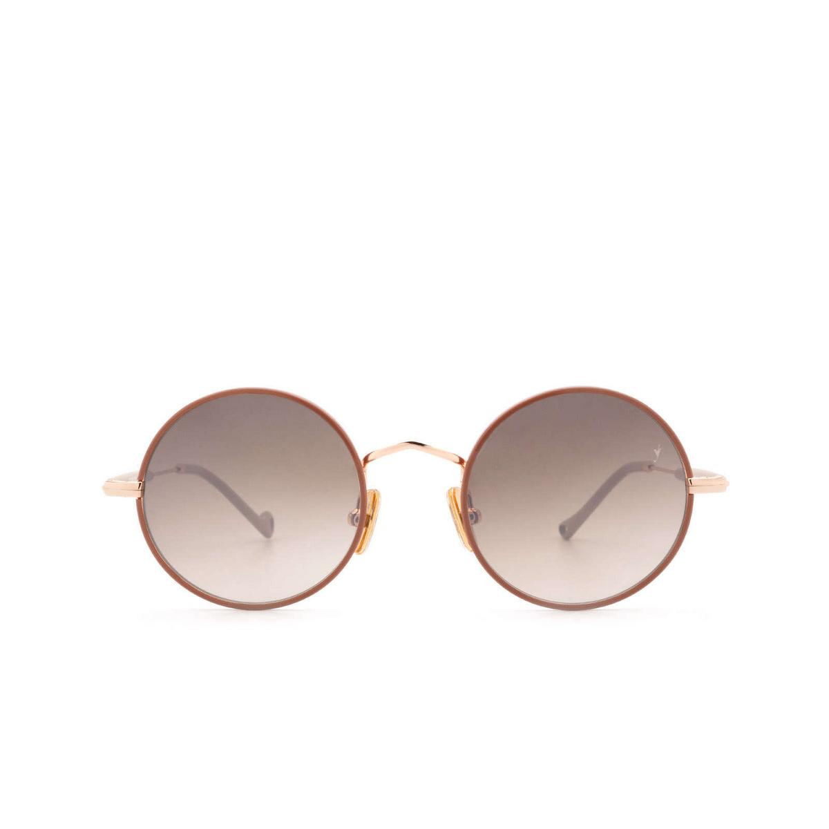 Eyepetizer® Round Sunglasses: Quatre color Pinkish Brown C.9-E-J-18F - front view.