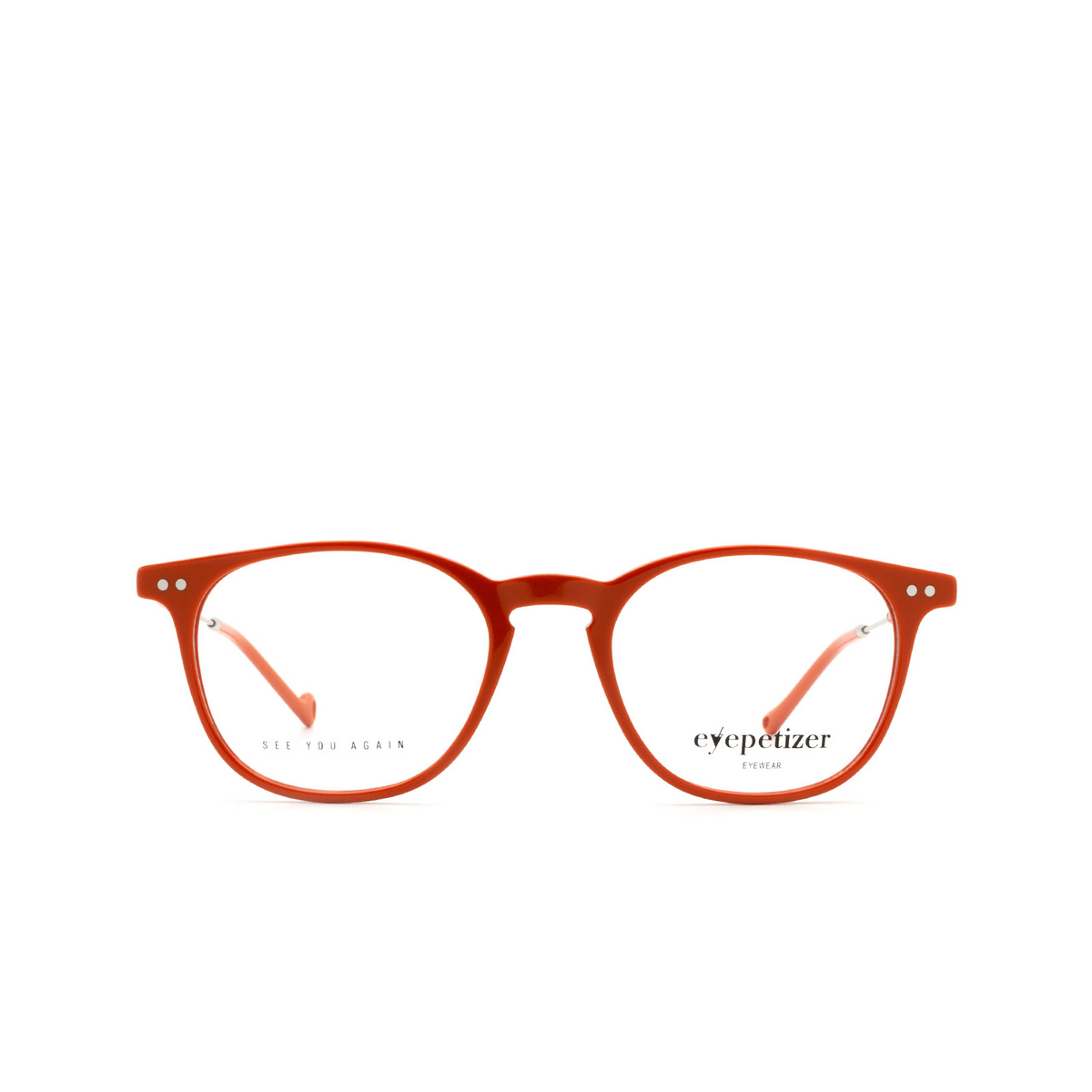 Eyepetizer® Square Eyeglasses: Sept color Orange C.1-K.