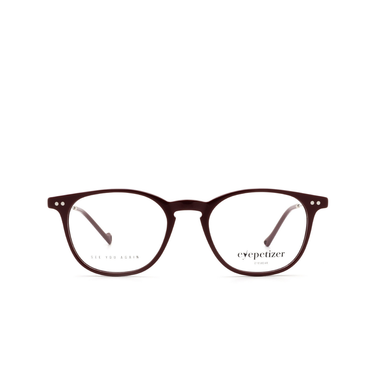 Eyepetizer® Square Eyeglasses: Sept color Bordeaux C.1-P.