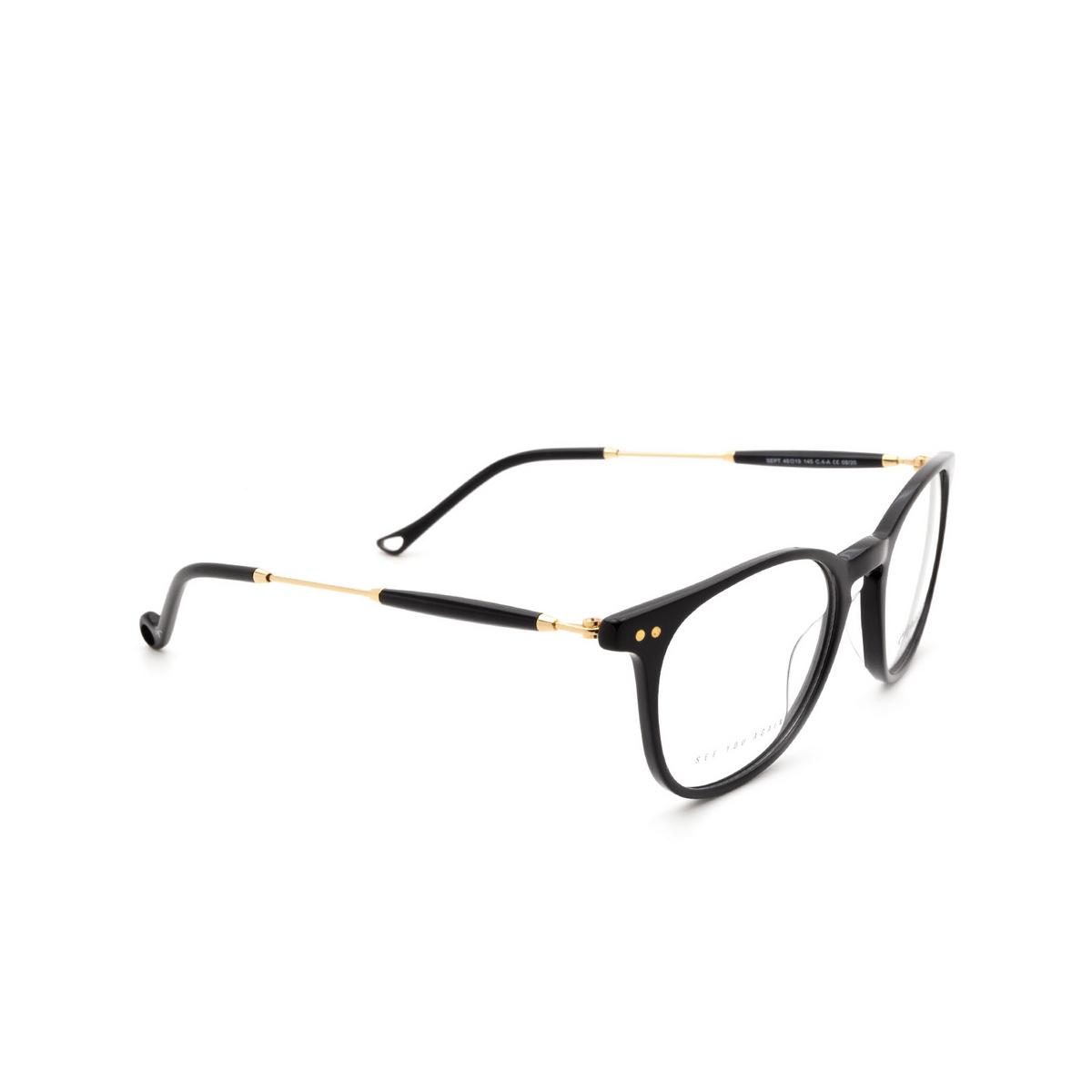 Eyepetizer® Square Eyeglasses: Sept color Black C.4-A.