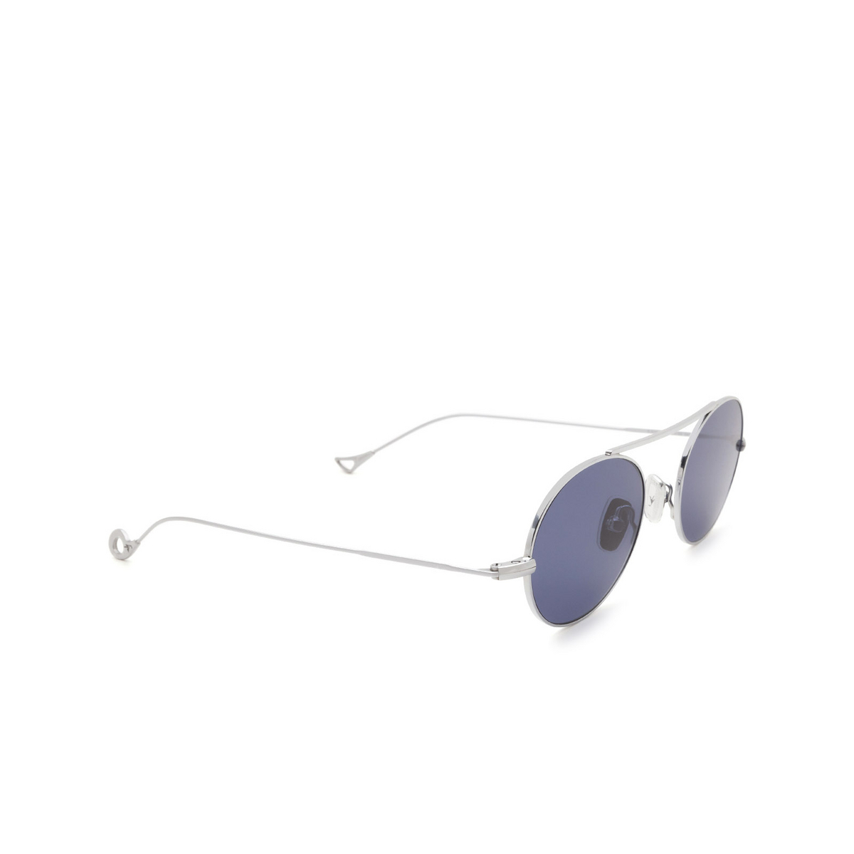 Eyepetizer® Oval Sunglasses: S.eularia color Silver C.1-39 - three-quarters view.