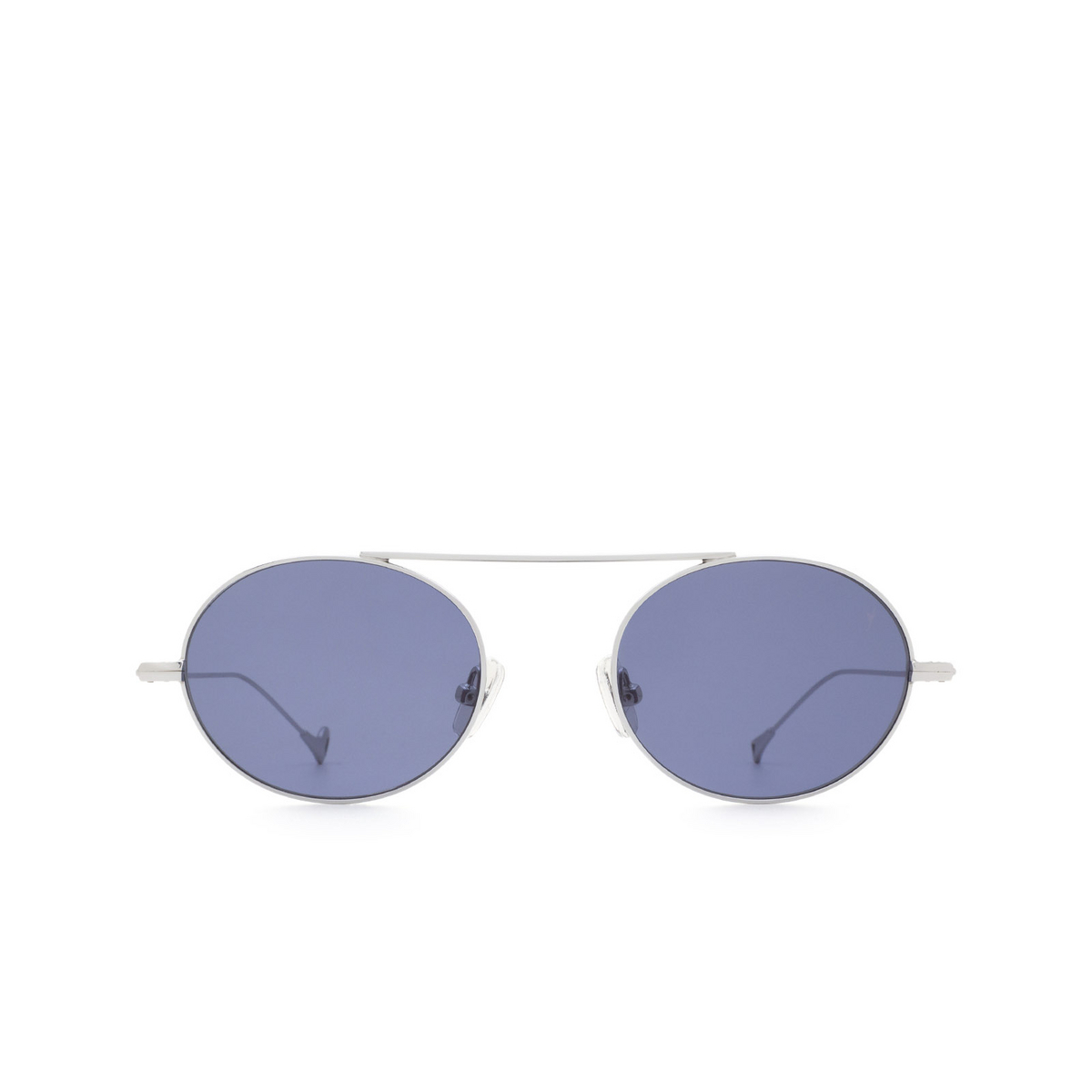 Eyepetizer® Oval Sunglasses: S.eularia color Silver C.1-39 - front view.