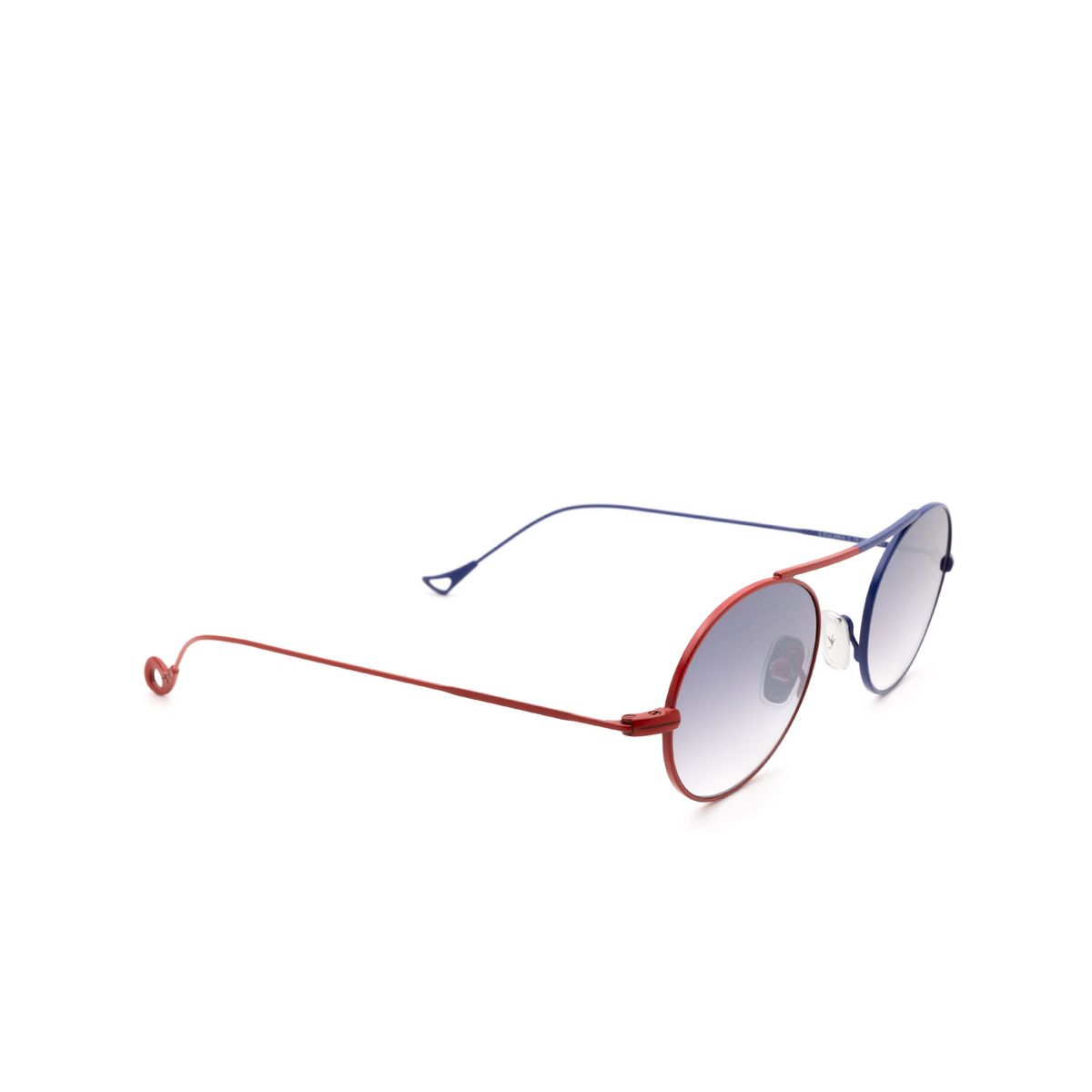 Eyepetizer® Oval Sunglasses: S.eularia color Red & Blue C.18-27F - three-quarters view.