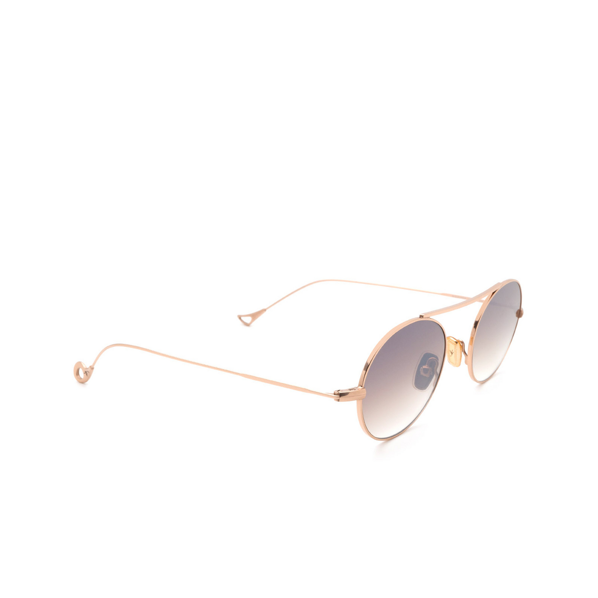 Eyepetizer® Oval Sunglasses: S.eularia color Rose Gold C.9-18F - three-quarters view.