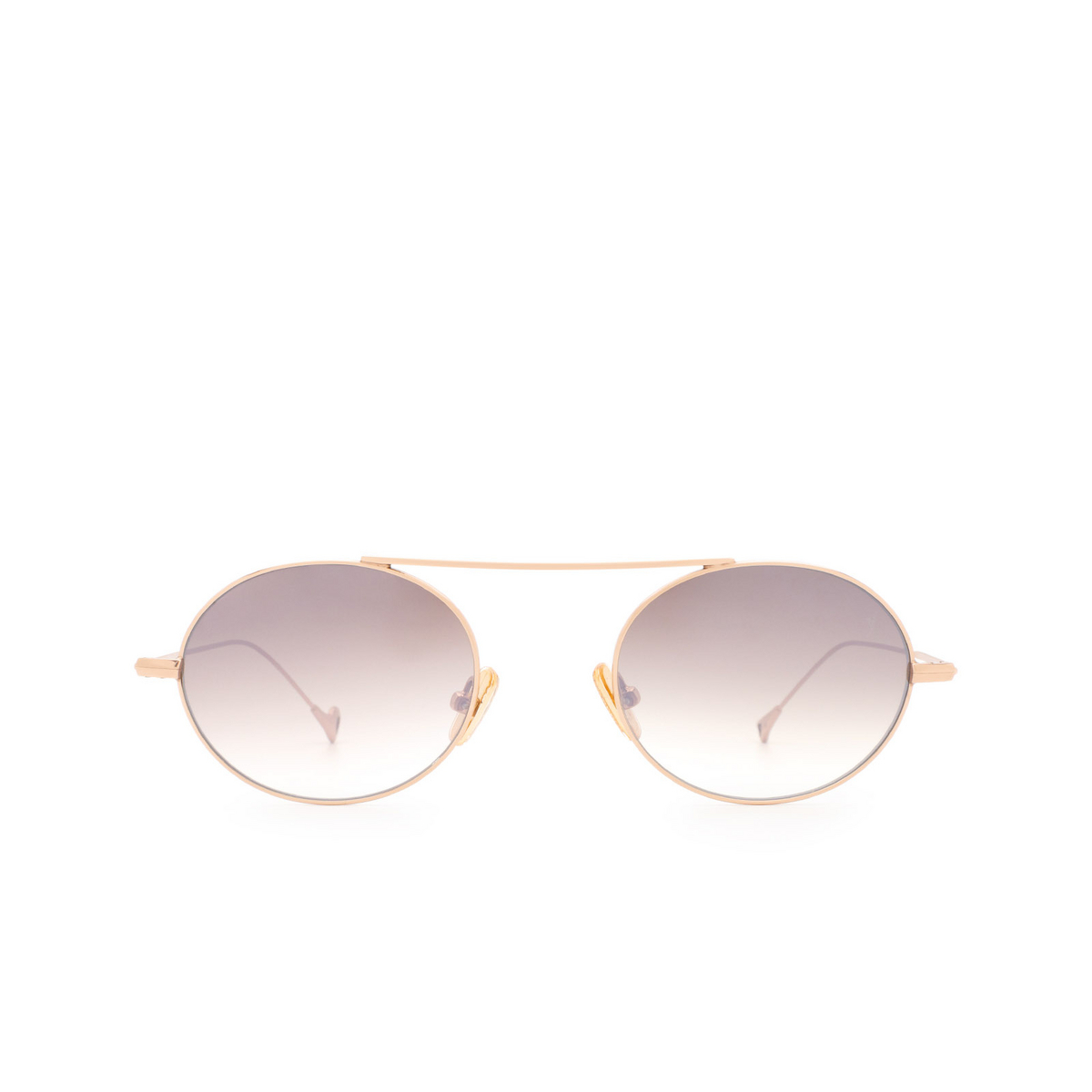 Eyepetizer® Oval Sunglasses: S.eularia color Rose Gold C.9-18F - front view.