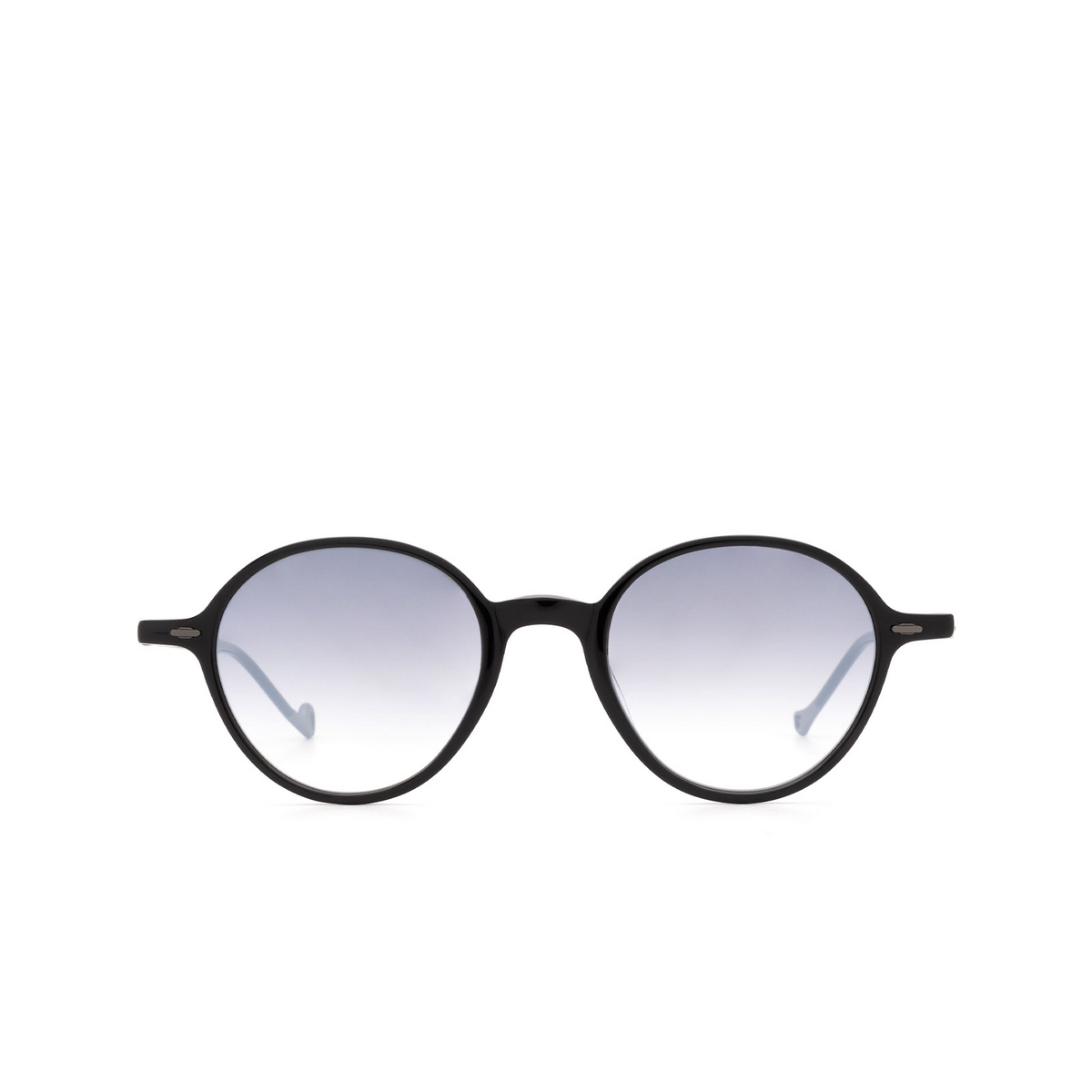 Eyepetizer® Round Sunglasses: Sforza color Black C.A-27F - front view.