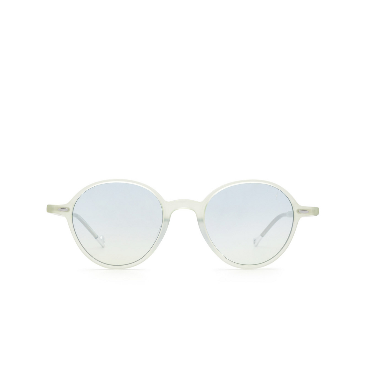 Eyepetizer® Round Sunglasses: Sforza color Green Aquamarine C.A/A-23F - front view.
