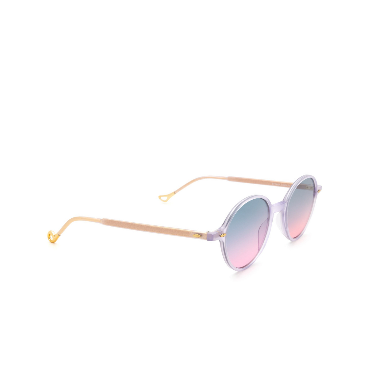Eyepetizer® Round Sunglasses: Sforza color Lilac C.B/B-20 - three-quarters view.