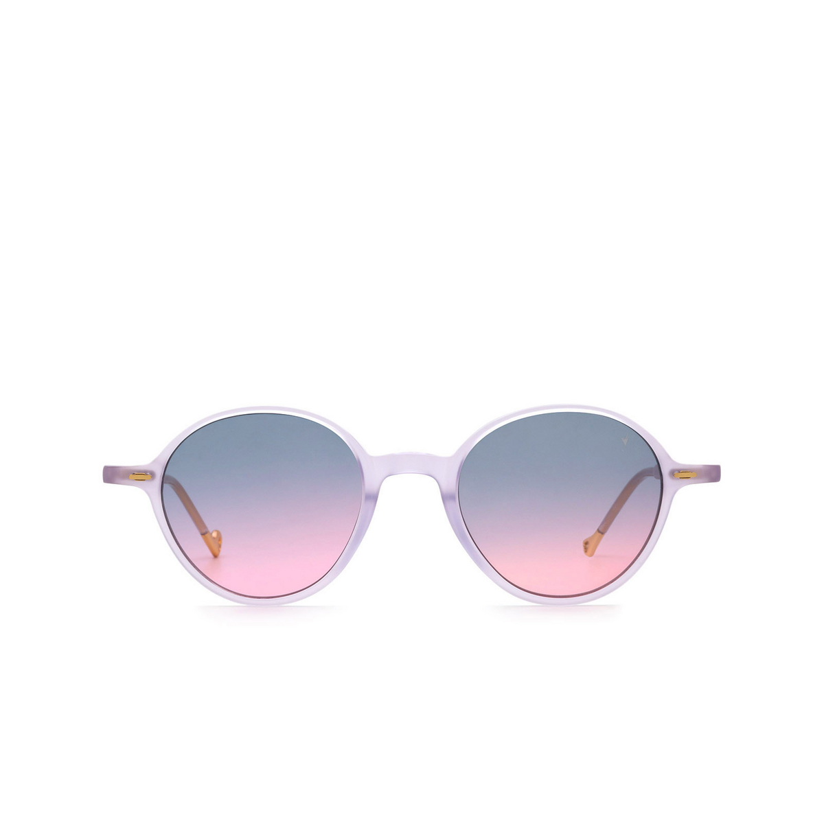 Eyepetizer® Round Sunglasses: Sforza color Lilac C.B/B-20 - front view.