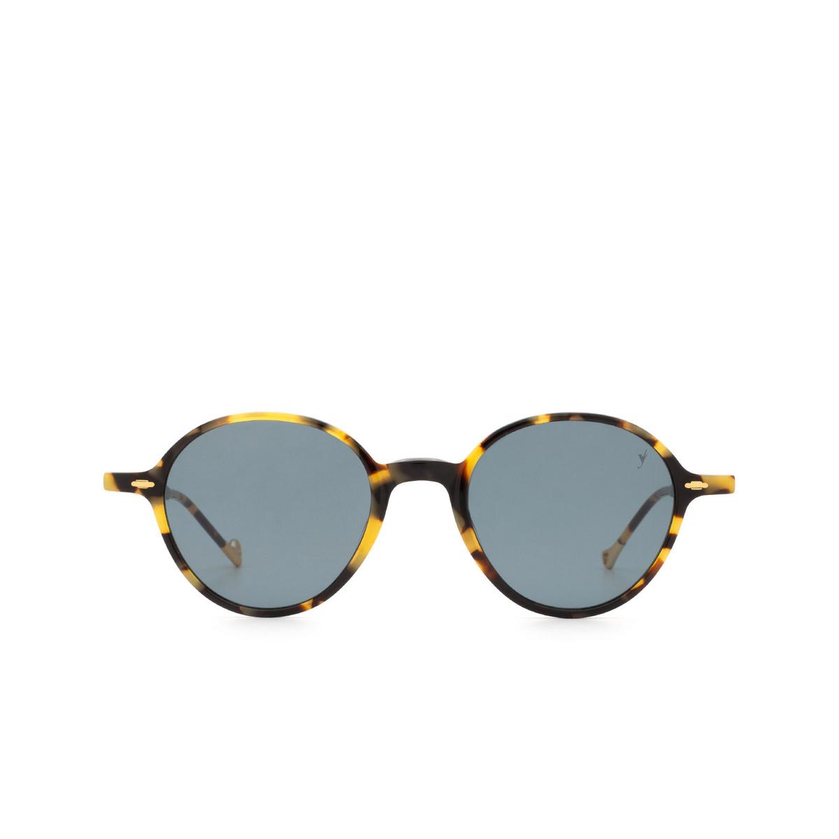 Eyepetizer® Round Sunglasses: Sforza color Havana C.F-40.