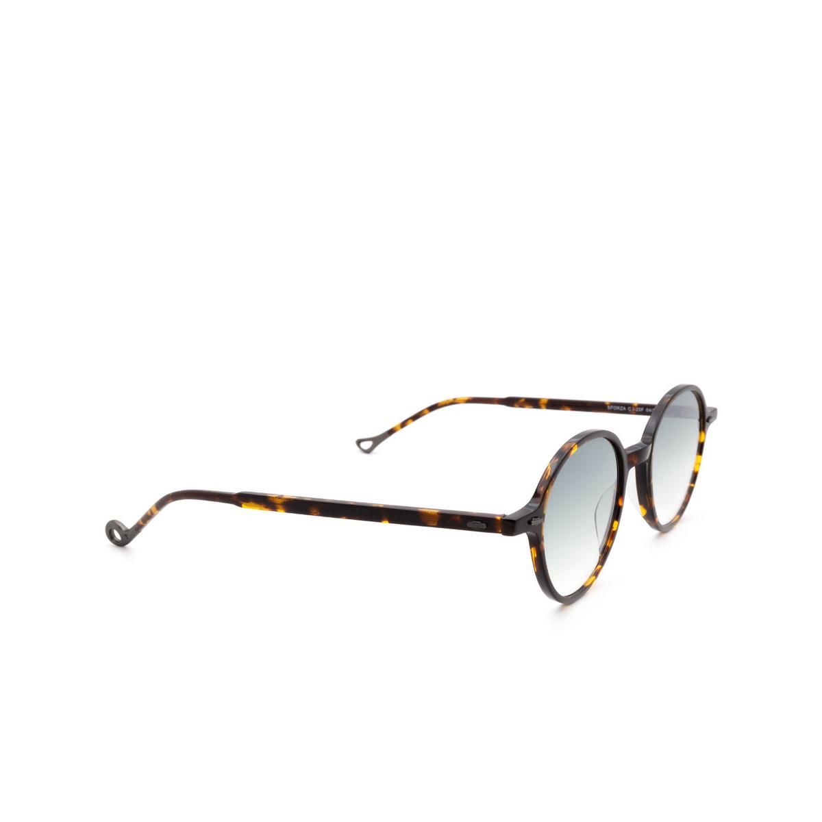 Eyepetizer® Round Sunglasses: Sforza color Dark Havana C.I-25F.