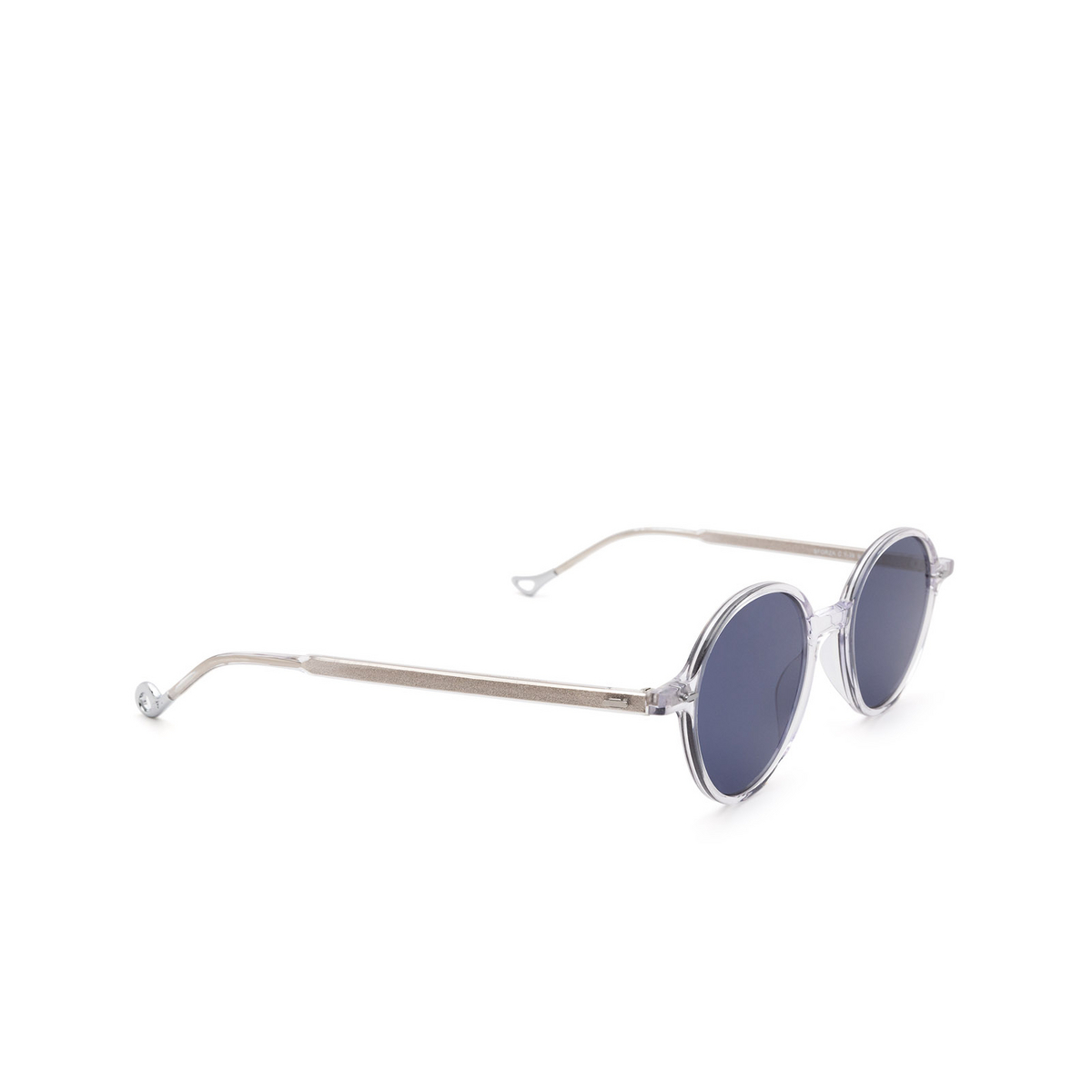 Eyepetizer® Round Sunglasses: Sforza color Crystal C.Y-39 - three-quarters view.