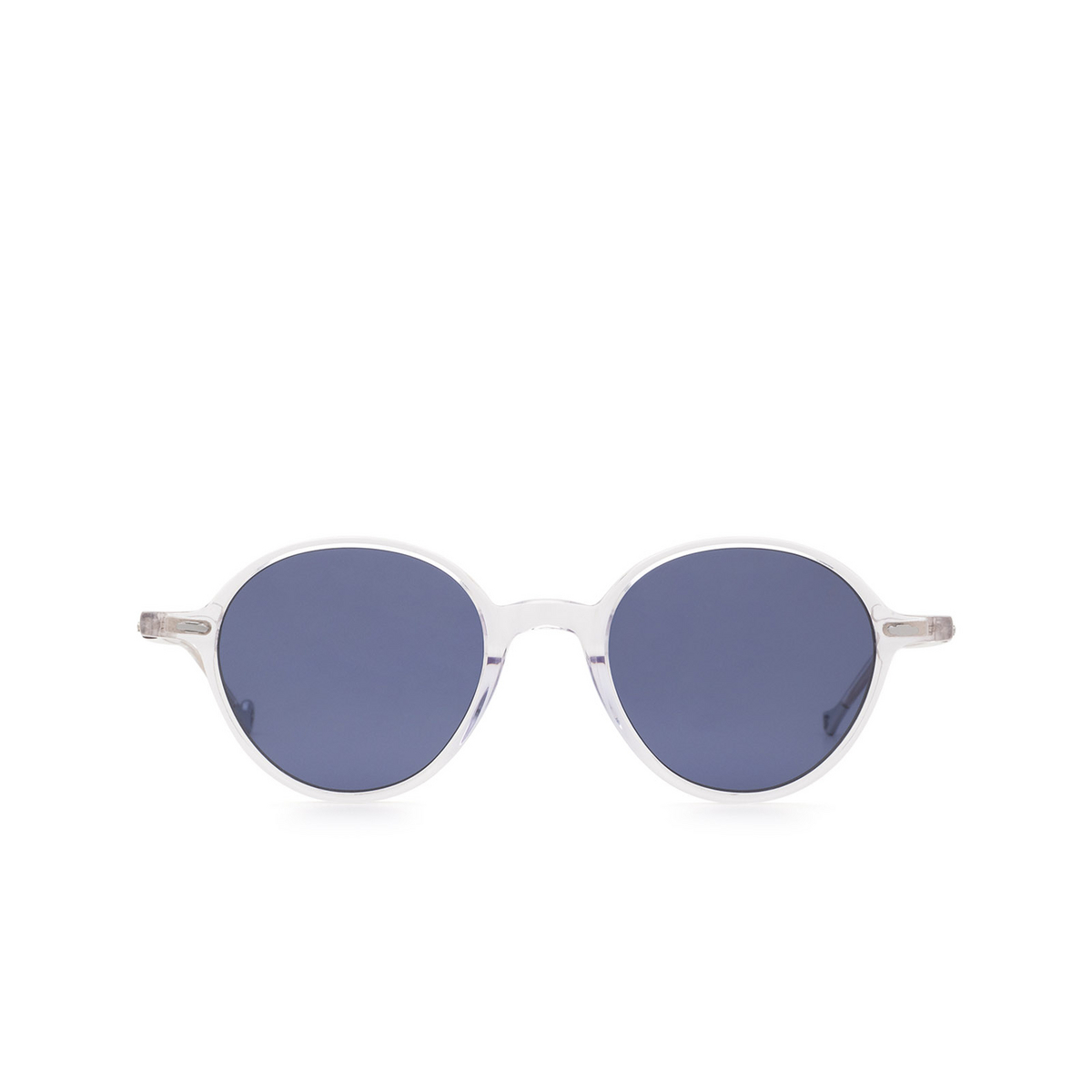 Eyepetizer® Round Sunglasses: Sforza color Crystal C.Y-39 - front view.