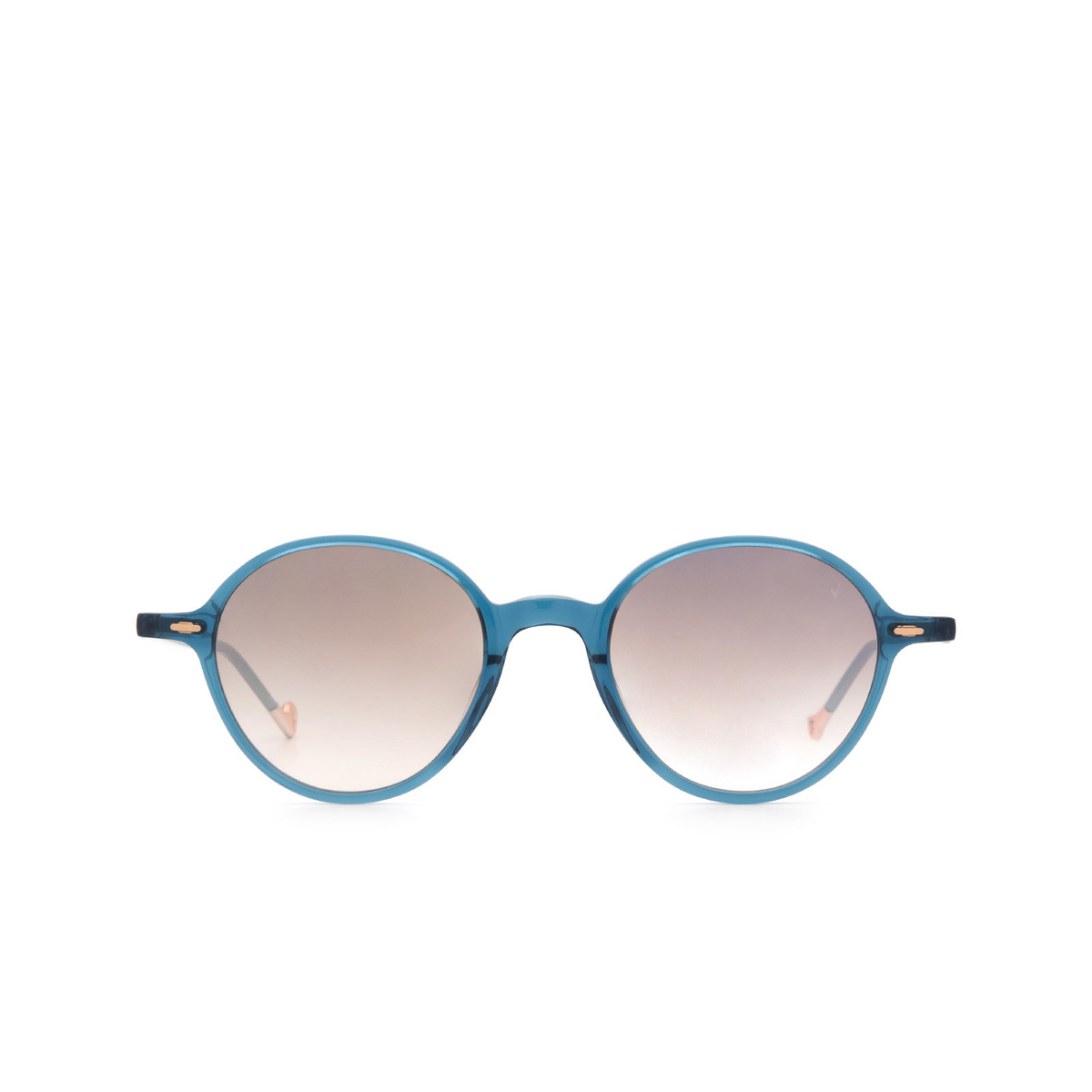 Eyepetizer® Round Sunglasses: Sforza color Blue C.Z-18F - front view.