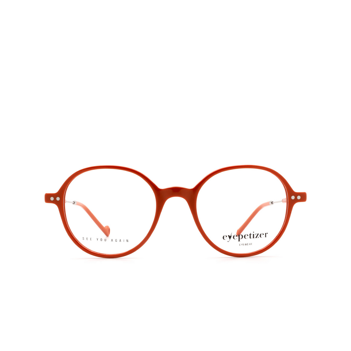 Eyepetizer® Square Eyeglasses: Six color Orange C.1-K.