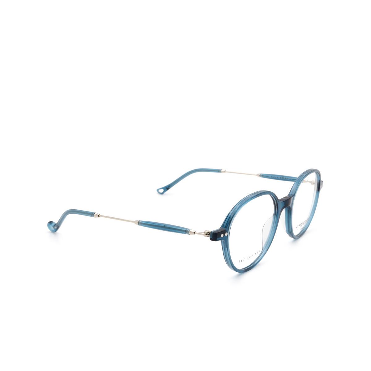 Eyepetizer® Round Eyeglasses: Six color Transparent Blue C.1-Z.