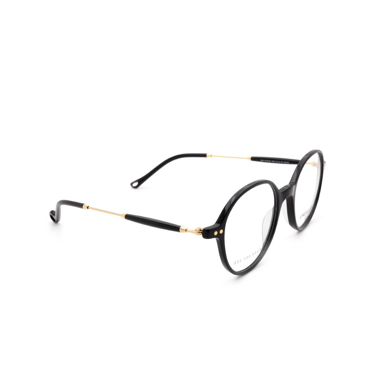 Eyepetizer® Square Eyeglasses: Six color Black C.4-A.
