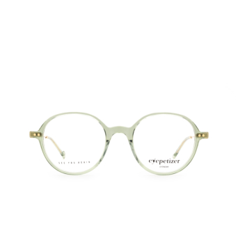 Eyepetizer® Round Eyeglasses: Six color Green Sage C.4-E/E.