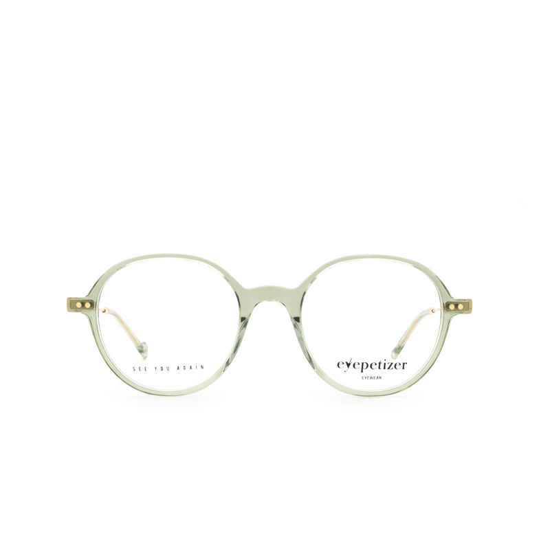 Eyepetizer® Round Eyeglasses: Six color Green Sage C.4-E/E.