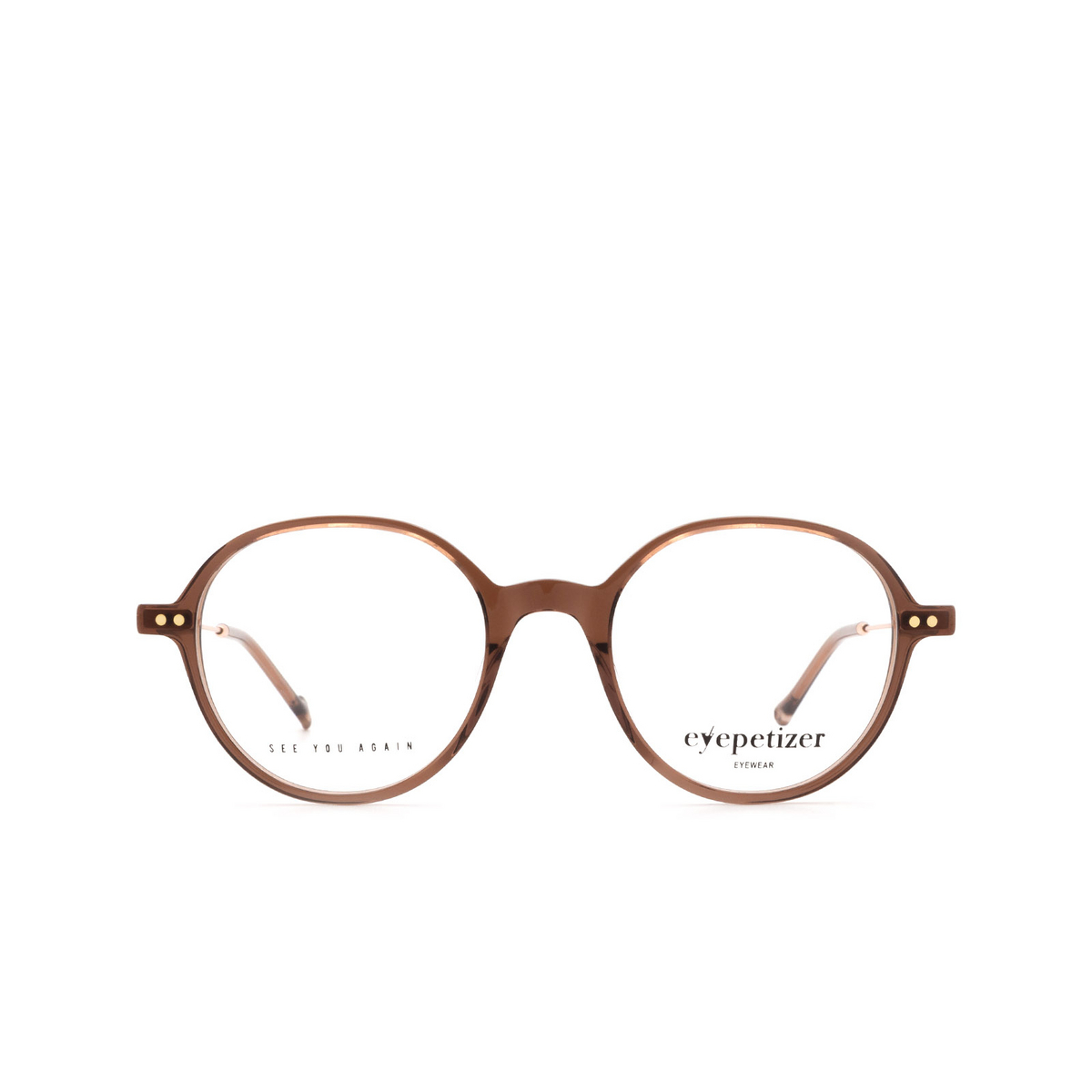 Eyepetizer® Round Eyeglasses: Six color Brown C.9-D/D.