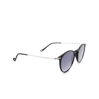 Eyepetizer® Round Sunglasses: Springs color Black C.A-1-27F.