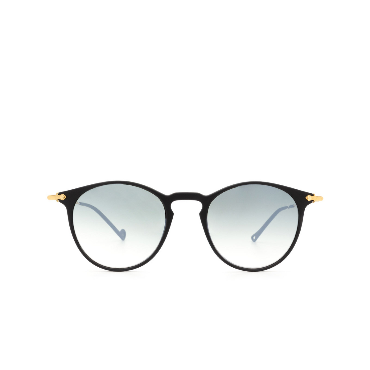 Eyepetizer® Round Sunglasses: Springs color Black C.A-4-25F - front view.