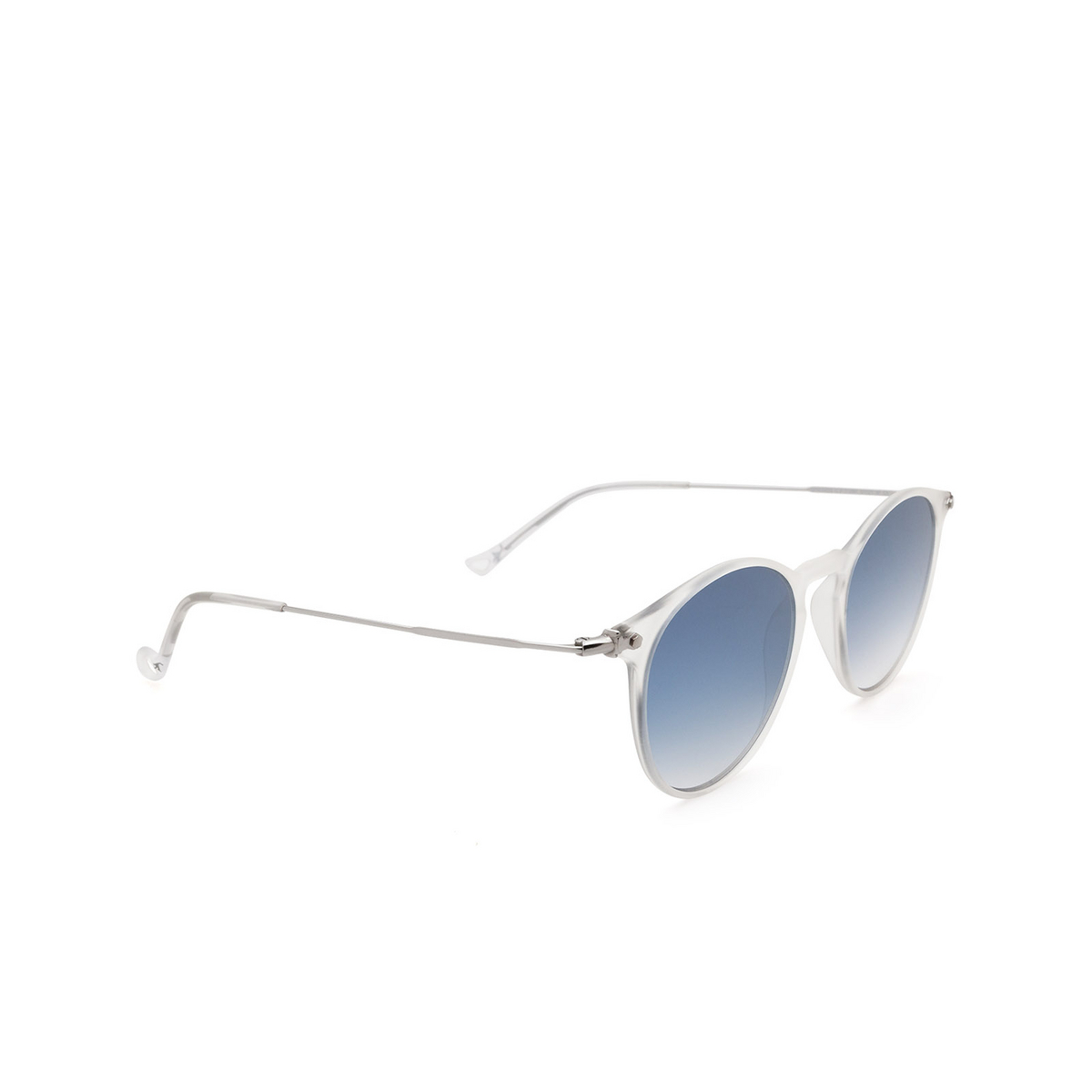 Eyepetizer® Round Sunglasses: Springs color Crystal C.F-1-26F - three-quarters view.