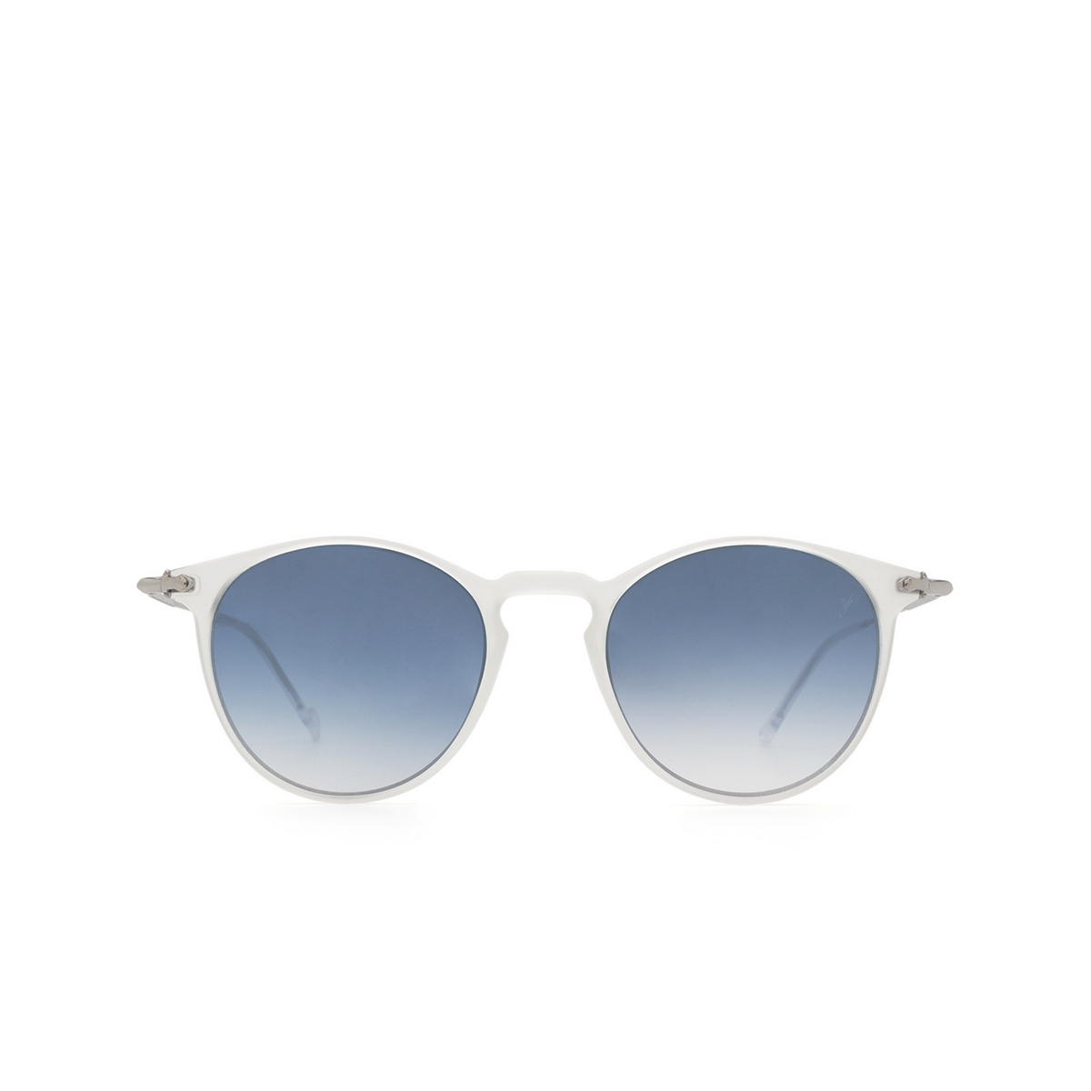 Eyepetizer® Round Sunglasses: Springs color Crystal C.F-1-26F - front view.